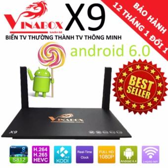 Android TV Box X9 VinaBox Ram 2GB WIFI Mạnh (Đen)