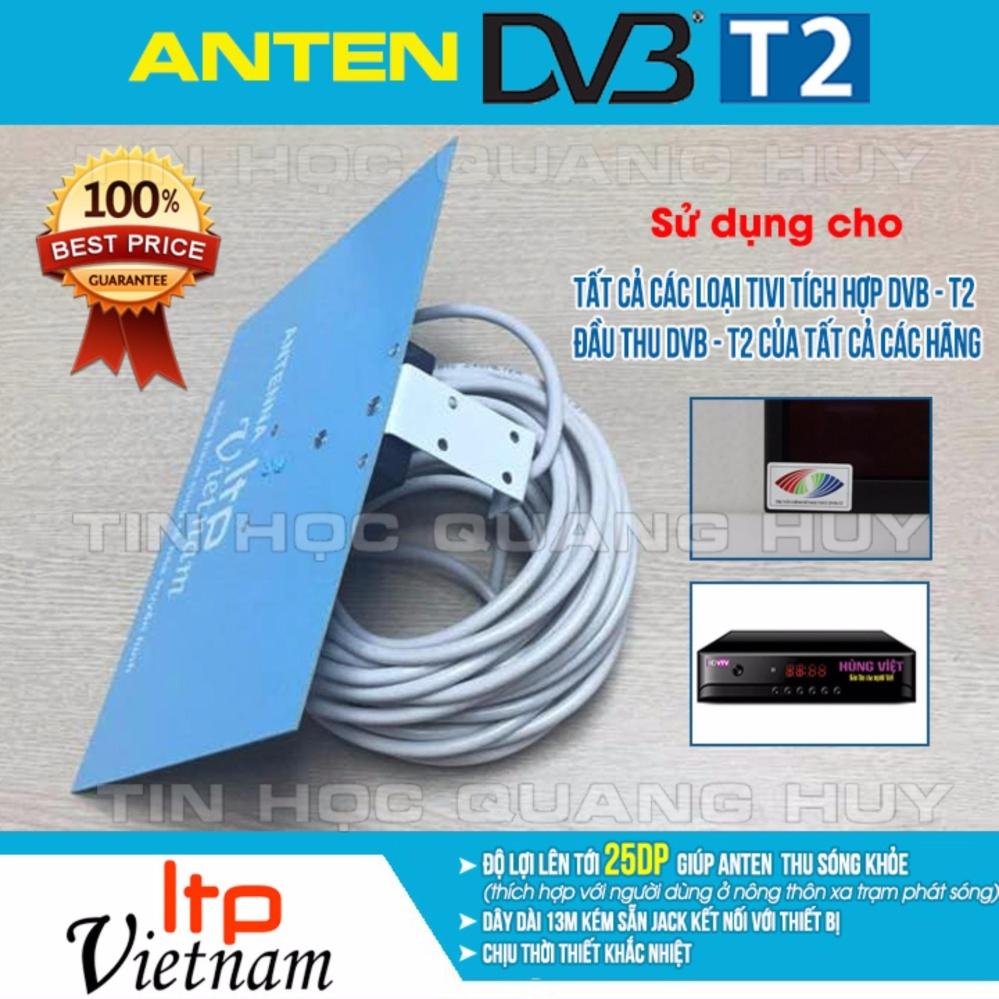 Nơi mua Anten bảng LTP Việt Nam dùng cho tivi tích hợp, đầu thu DVB T2 có cáp dài 13m