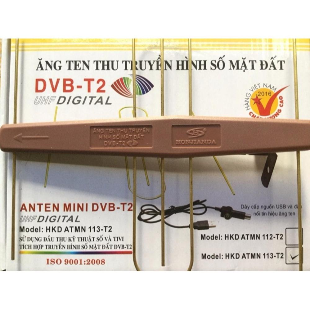 Nơi mua Anten Mini KTS gắn trong nhà – có mạch khuyếch đại + 15m dây