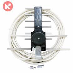 Anten thông minh thu sóng DVB T2 + dây cáp dùng cho Tivi và đầu KTS