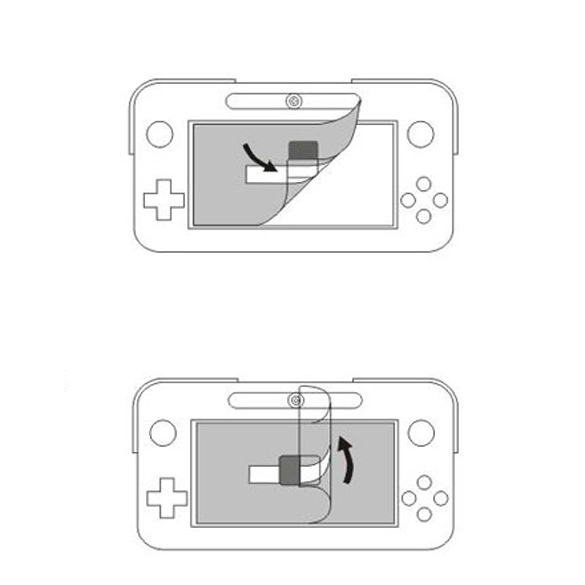 Anti-Glare LCD Screen Clear Film Protector Cover for Nintendo Wii U Gamepad (Intl)