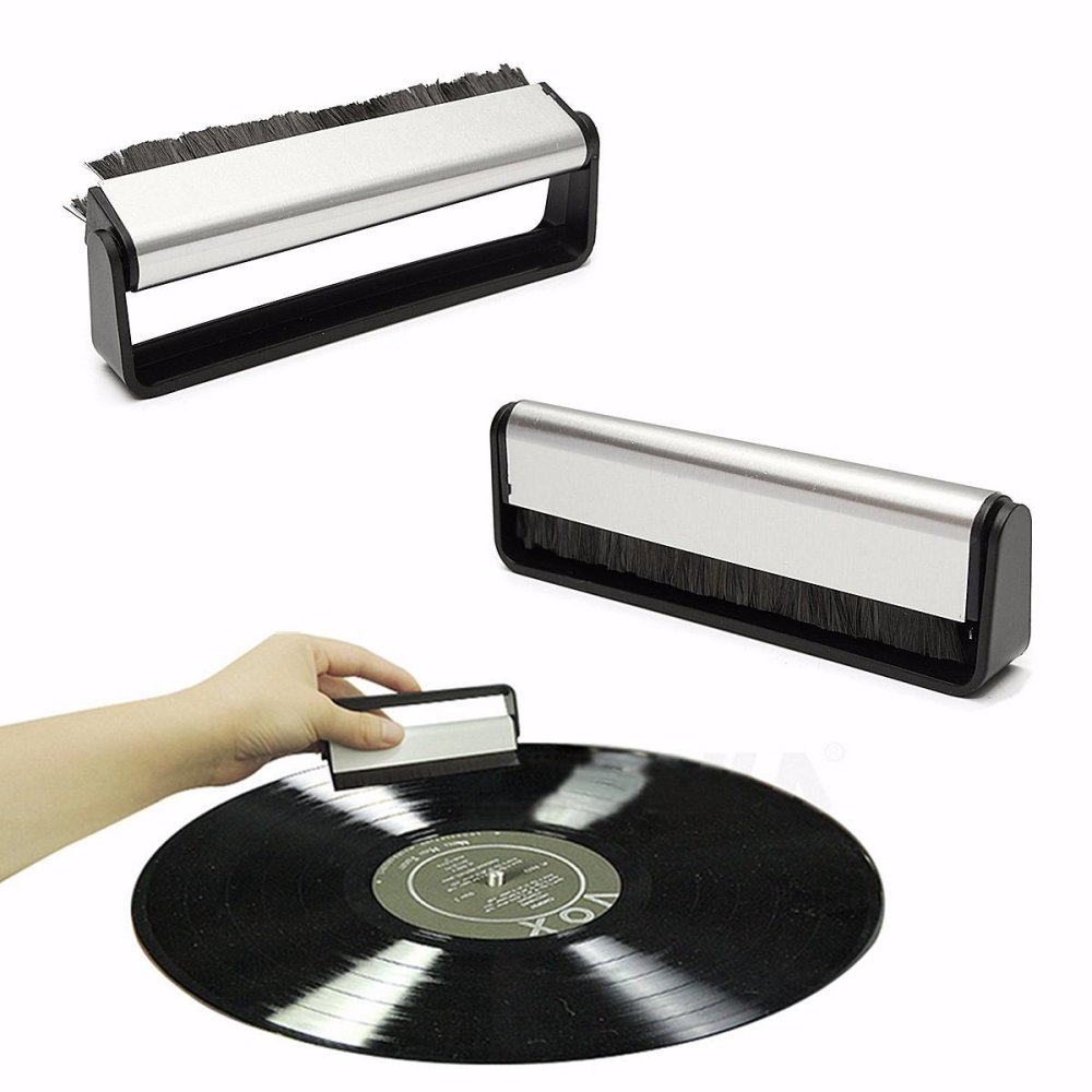 Anti-Static Vinyl Record Cleaning Cleaner Pad Brush Audio Stylus Dust Remover – intl