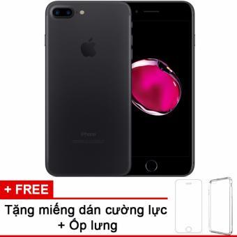 Apple iphone 7plus 256GB Black và m.dán cường lực, ốp lưng (Hàng nhập khẩu LLA Mỹ)