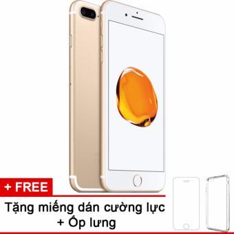 Apple iphone 7plus 256GB Gold và m.dán cường lực, ốp lưng (Hàng nhập khẩu LLA Mỹ)