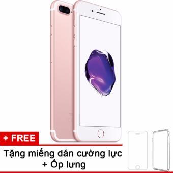 Apple iphone 7plus 32GB Rose và m.dán cường lực, ốp lưng (Hàng nhập khẩu LLA Mỹ)