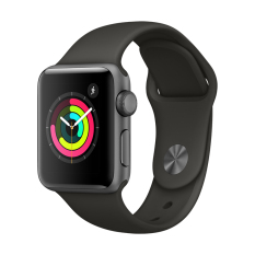 Apple Watch Series 3 GPS 38mm Space Grey Aluminium Case with Black Sport Band