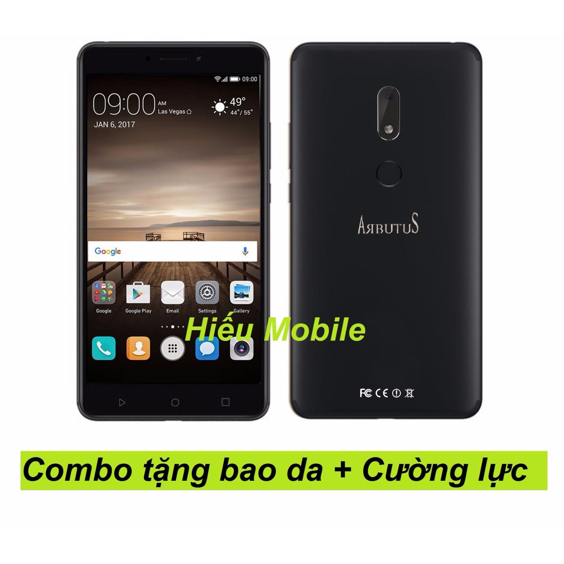 Arbutus Max 8s 32G Ram 2GB (Đen) + Bao da + Kính cường lực – Hàng nhập khẩu