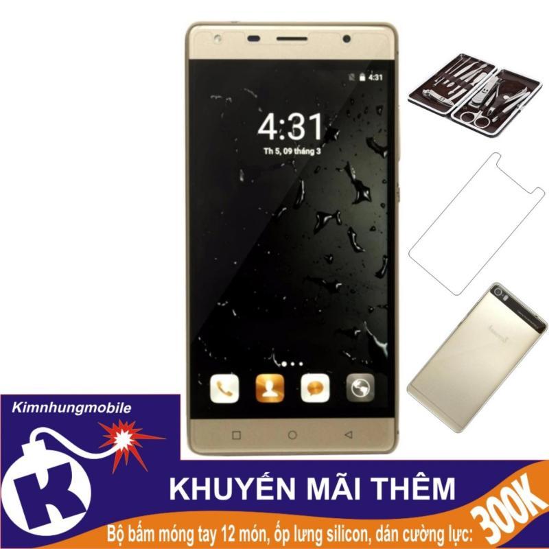 Arbutus Max Pro 16GB (Vàng) - Hàng nhập khẩu + Dán cường lực + Ốp lưng silicon + Bộ bấm móng tay 12 món