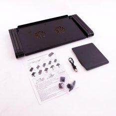 Bàn kê laptop 3in1 có 2 quạt tản nhiệt kiêm bàn di chuột (Đen)