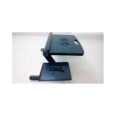 Bàn kê laptop có 2 quạt tản nhiệt có bàn di chuột( Đen)