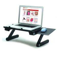 Bàn làm việc kiêm bàn laptop đa năng có 2 quạt tản nhiệt có bàn di chuột
