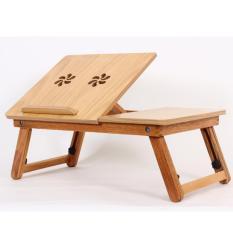 Bàn kê laptop gỗ thông minh Titi S01 (Nâu)