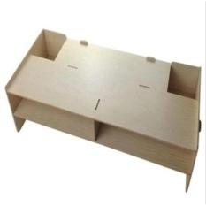 Bàn kê PC, laptop 2 tầng 2 hộc tủ monitor vân gỗ (Vân gỗ nâu)