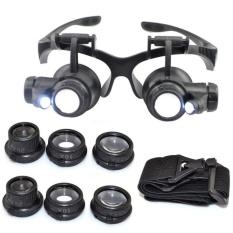 Bán kính bảo hộ – Kính lúp sửa chữa, Đèn LED siêu ánh sáng, An Toàn cho mắt, Độ phóng đại đa năng 10x 15x 20x 25x- dòng sản phẩm CAO CẤP.