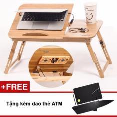 Bàn Laptop gỗ đa năng L6 + Tặng dao thẻ ATM