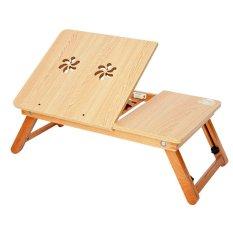 Bàn laptop gỗ thông minh Titi S01 (Vàng)