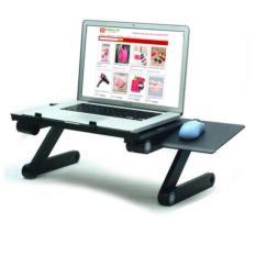 Bàn laptop thông minh có 2 quạt tản nhiệt có bàn di chuột