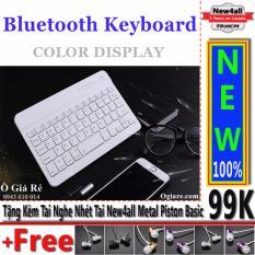 Đánh Giá Bàn phím Bluetooth New4all V100 cho điện thoại thông minh (Trắng) + Tặng 01 tai nghe nhét tai New4all Piston Basic