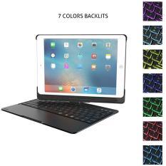 Bàn phím Bluetooth iPad 9.7 inch iPad wifi 2018, iPad wifi 2017, iPad Air 1, iPad Air 2, iPad pro 9.7 Ốp lưng Xoay 360° Đèn LED PKCB180 Keyboard PF105