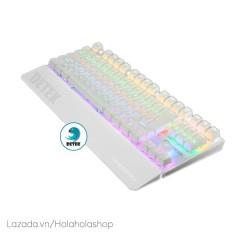 Bàn phím cơ game thủ Detek K28 (CK87) có đèn LED nhiều màu tặng đế gác chống mỏi tay