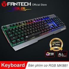 Bàn phím cơ Full size RGB Backlit Ghost Gaming – Fantech MK881 (PHÍM XANH)