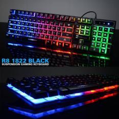 Bàn phím giả cơ chuyên game R8 1822 Led Nhiều màu cổng USB
