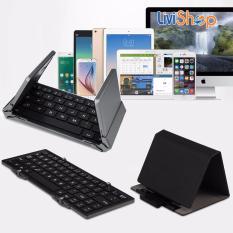 Địa Chỉ Bán Bàn phím không dây Bluetooth BOW HB066 Xếp Gấp Nhỏ Gọn cho Tablet IOS Android và Windows