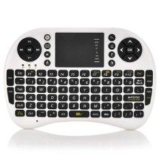 Bàn phím kiêm chuột không dây PeepVN UKB 500-RF Mini Keyboard (Trắng)