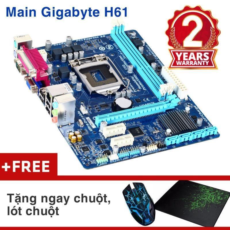 Bảng mạch chính Gigabyte H61M-DS2 Nhập khẩu – KM chuột wifi