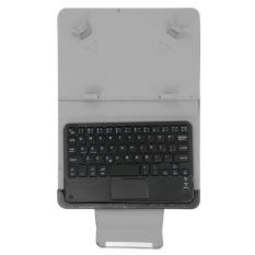 Bao da bàn phím bluetooth 8 inch có bàn rê chuột touchpad (Đen)