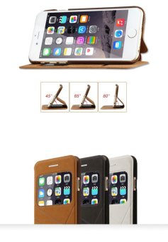 Bao da Baseus Unique cho iPhone 6 plus/6S plus (Nâu) - 4