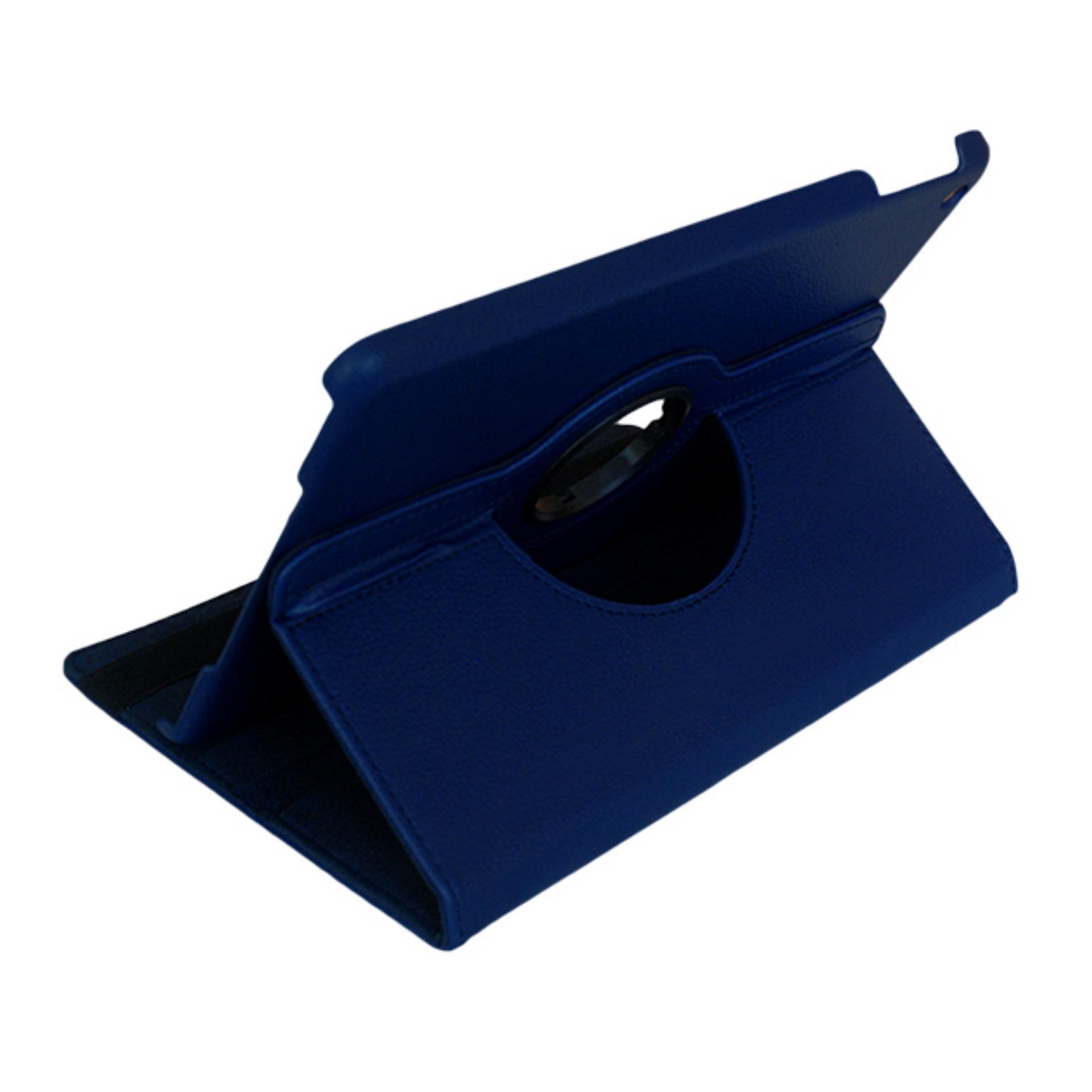 Bao da dành cho iPad 2 3 4 Xoay 360 - Lopez Cute (Xanh đen) + Tặng miếng dán bảo...