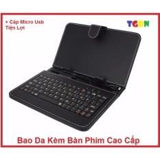 Bao da kèm bàn phím cổng Micro USB cho điện thoại/ máy tính bảng 7 inch cao cấp