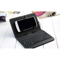 Bao da kiêm bàn phím cho điện thoại android ( Đen)