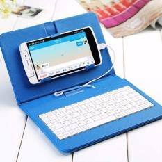 Bao da kiêm bàn phím cho điện thoại (màu xanh)