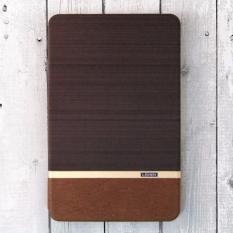 Bao da Samsung Galaxy Tab E 9.6 T560 T561 vân vải hiệu Lishen Brown (Nâu)