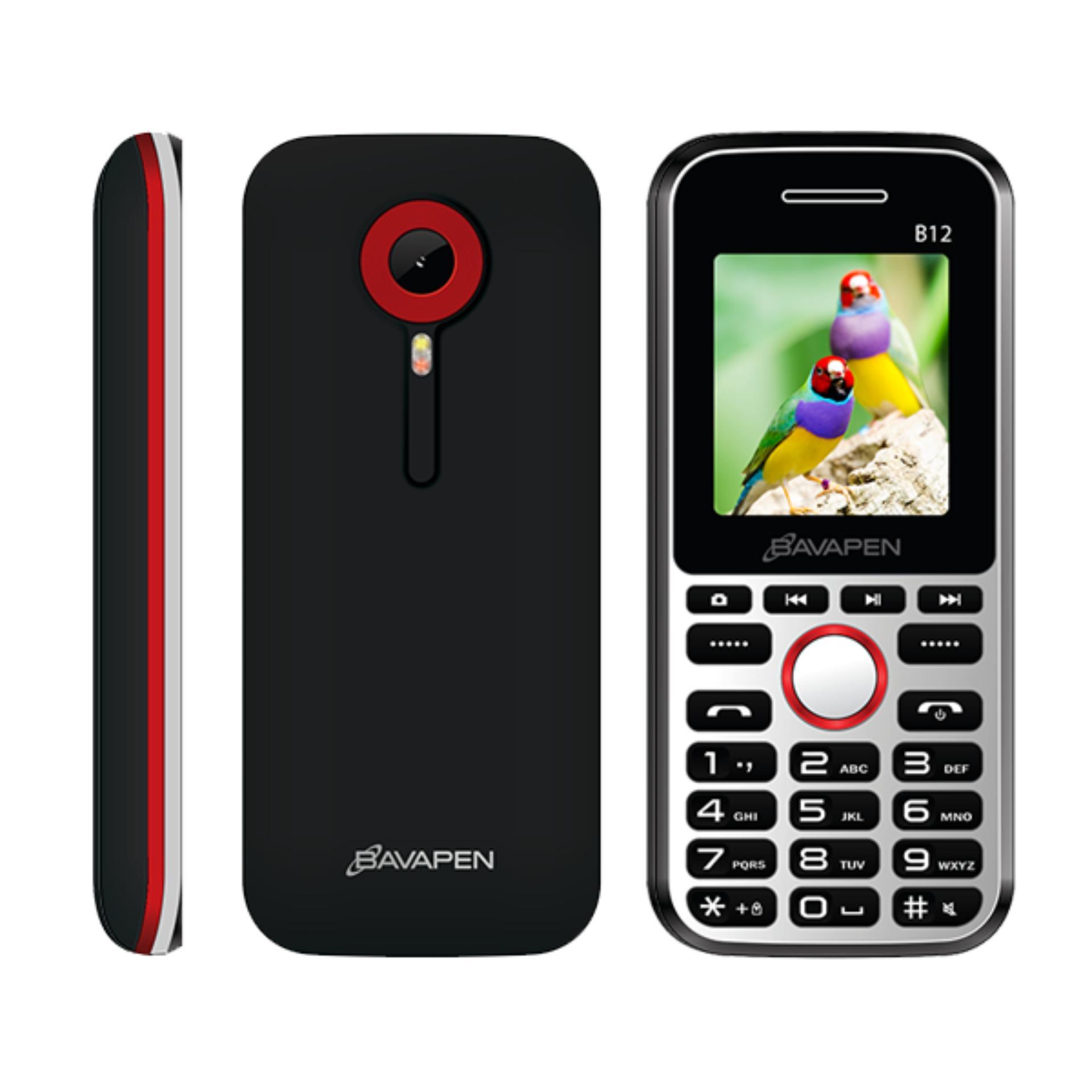 Bavapen B12 2 sim (black red)