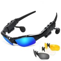 Kính Mát Bluetooth Ngoài Trời Kính có Mic Bluetooth Tai Nghe Nhạc Stereo Kính Tai Nghe Không Dây-Tai Trong Suốt-quốc tế