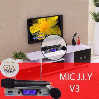 Bộ 02 Microphone Không Dây J.I.Y – V3 (Đen) - Hãng phân phối chính thức