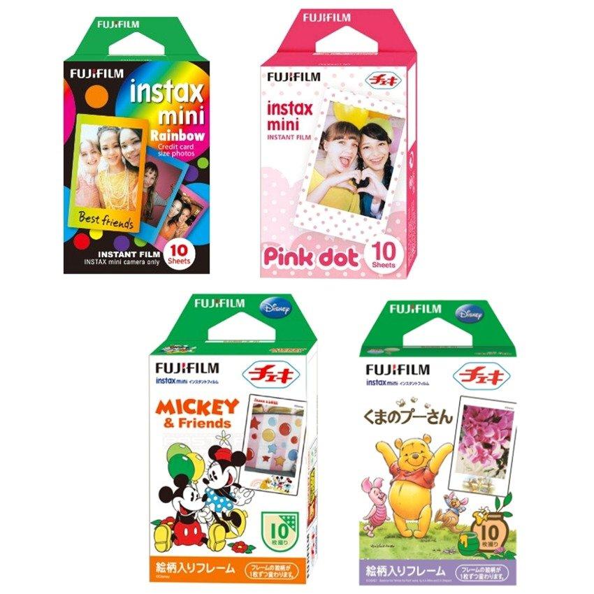 Bộ 04 hộp phim Fujifilm Instant collor Mini Frame Candy + Mickey +Rainbow + Pooh