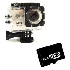 Bộ 1 Camera hành trình Sports Kim Phát (Vàng) và 1 thẻ nhớ SD 8GB