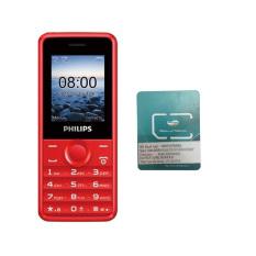 Đánh Giá Bộ 1 ĐTDĐ Philips E103 4MB 2 Sim (Đỏ) – Hãng phân phối chính thức + 1 Sim Viettel