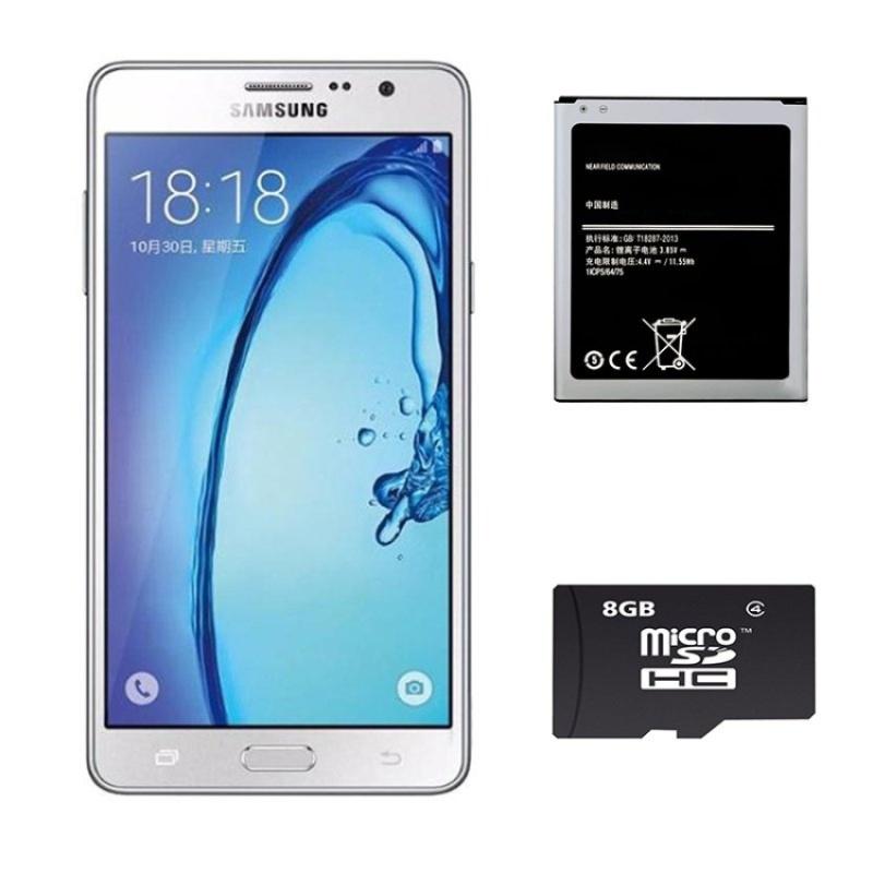 Bộ 1 Samsung Galaxy On7 8 GB (trắng) - Hàng nhập khẩu + 1 Pin dành cho On7 + 1 Thẻ Nhớ 8Gb