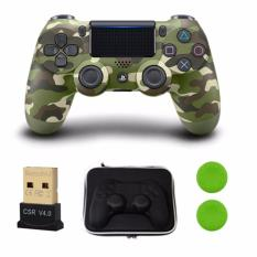 Bộ 1 tay cầm chơi game PS4 Dualshock 4 (2016 ) Controller + 1 USB Mini Bluetooth 4.0 dùng cho PC + Bao chống sốc (Tặng Thum Grips màu ngẫu nhiên)