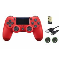 Bộ 1 tay cầm Playstation4 Dualshock 4 ZCT2 + 1 USB Mini Bluetooth 4.0 + Cable + 2 núm