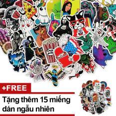Bộ 100 Sticker Miếng Dán Hoạt Hình Ngẫu Nhiên Trang Trí