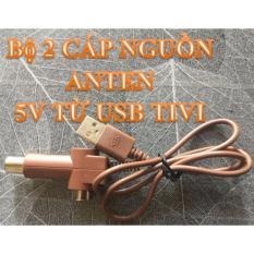 BỘ 2 Dây Cáp cấp nguồn 5V cho Anten từ cổng USB của Tivi