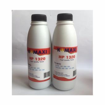 Bộ 2 chai Mực in siêu mịn 140g dùng cho máy in HP-CANON (Mã mực:1320/ Màu đen)