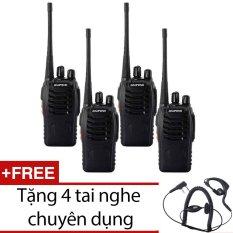 Bộ 4 bộ đàm Baofeng BF888S đời 2016 (đen) + Tặng 4 tai nghe chuyên dụng