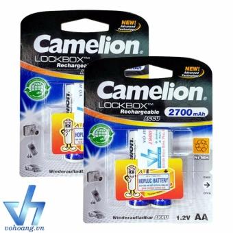 Bộ 4 pin sạc AA Camelion AlwaysReady 2700mAh (Tem Hợp Lực)
